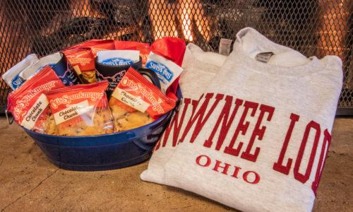 Treats and two sweatshirts
