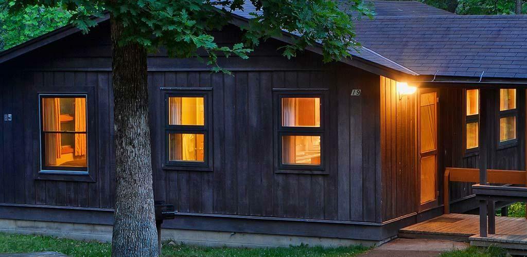 Shawnee Cabin at night